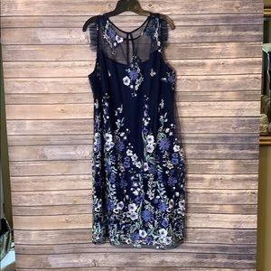 NWT Lane Bryant 24 Floral Lace Chiffon Dress
